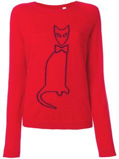 свитер с очертанием кошки Chinti & Parker