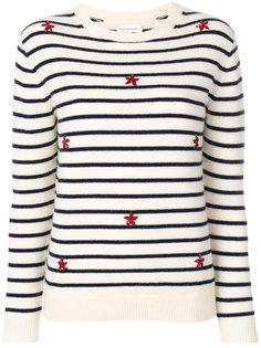 полосатый свитер с вышивкой Chinti & Parker
