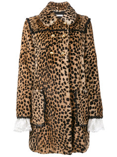двубортное леопардовое пальто Philosophy Di Lorenzo Serafini