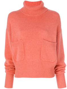 свитер с оборчатыми рукавами Chloé