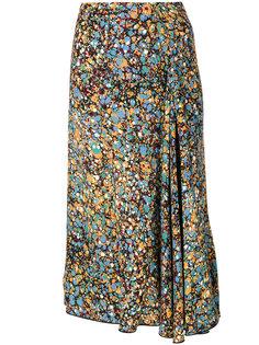 юбка с цветочным принтом  Victoria Beckham