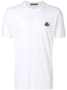 футболка с нашивкой пчелы Dolce & Gabbana
