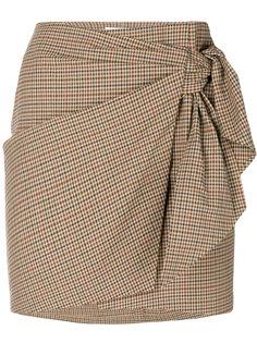 юбка в клетку с завязкой Isabel Marant Étoile
