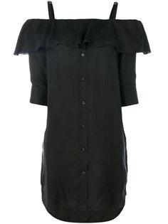 платье-рубашка с открытыми плечами Neil Barrett