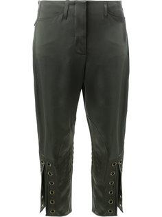 укороченные брюки с люверсами Fendi