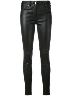 облегающие брюки из кожи Givenchy