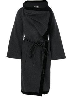 свободное пальто с поясом  Mm6 Maison Margiela