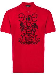 рубашка поло с рисунком Alexander McQueen