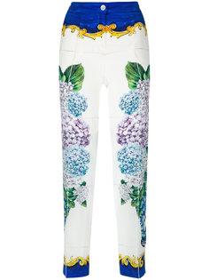 брюки с гортензиями Dolce & Gabbana