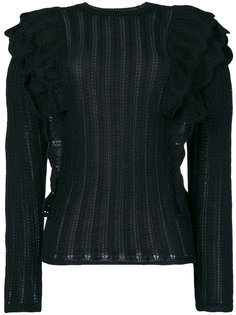 ажурный вязаный свитер Dolipa с оборками Iro