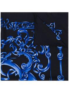 шарф с узорчатым принтом Versace