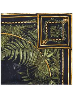 шарф с растительным принтом Versace