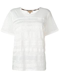футболка с кружевной отделкой  Burberry