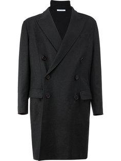 двубортное пальто с пуговицами на спине Delada
