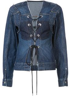 джинсовая куртка со шнуровкой Sacai