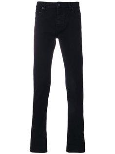 прямые джинсы с логотипами на манжетах Kenzo