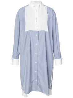 объемная рубашка в полоску Sacai