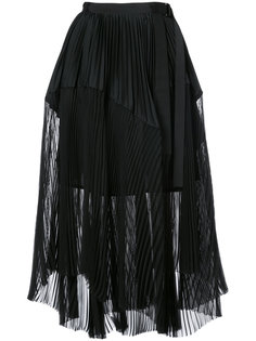 плиссированная многослойная юбка Sacai