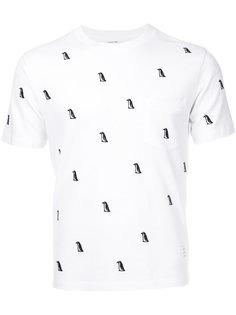 футболка с вышивкой Thom Browne
