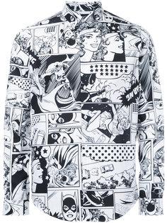 рубашка с узором в стиле комиксов Iceberg