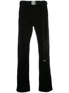 вельветовые брюки с поясом Doublet