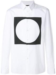 рубашка с контрастным принтом Diesel Black Gold