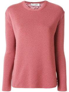 свитер с кружевной спиной Valentino