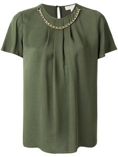 блузка с короткими рукавами с цепочкой Michael Michael Kors
