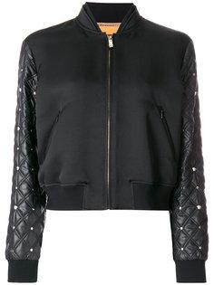 куртка-бомбер со стегаными рукавами Versace