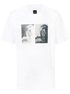 футболка с принтом лица Oamc
