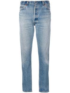 зауженные джинсы с рваными деталями Re/Done