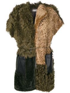 пальто с короткими рукавами и поясом Golden Goose Deluxe Brand