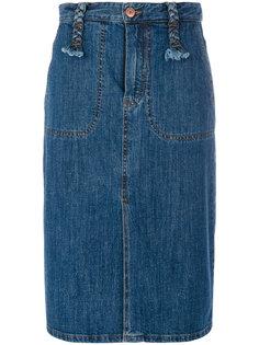 юбка с плетеными петлями для ремня See By Chloé