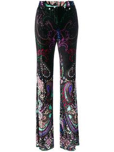 расклешенные брюки с узором пейсли Roberto Cavalli
