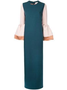 платье с контрастными рукавами Roksanda