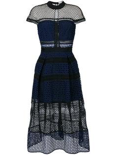 ажурное платье с панельным дизайном Self-Portrait