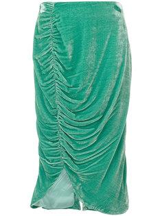 бархатная юбка длиной по колено Vivetta