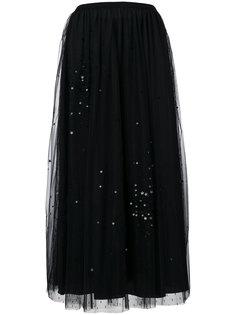 юбка из тюля со звездами Red Valentino