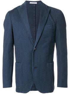 однобортный джинсовый пиджак  Boglioli