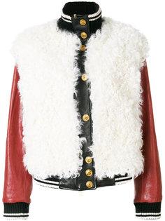 куртка-бомбер из кожи Fausto Puglisi
