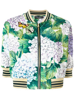 куртка-бомбер с гортензиями Dolce & Gabbana