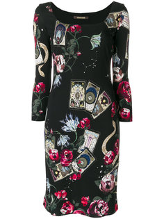 платье с рисунком Mystic Garden Roberto Cavalli