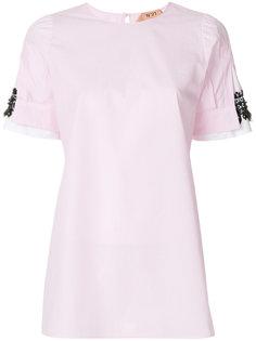 блузка с декоративной вставкой на рукавах Nº21