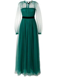 вечернее платье из тюля с открытой спиной Nº21