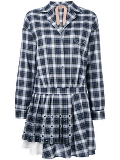 платье-рубашка в шотландскую клетку Nº21