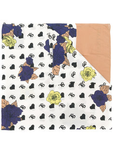 шарф с рисунком из сердец и цветов Twin-Set