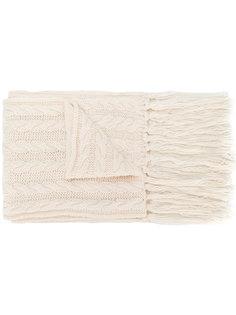 вязаный шарф с крупным блестящим бантом Twin-Set
