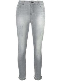 выбеленные джинсы с заклепками Twin-Set