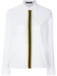 рубашка на пуговицах с полосатой отделкой Luisa Cerano
