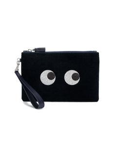 блестящий клатч с декоративными глазами Anya Hindmarch